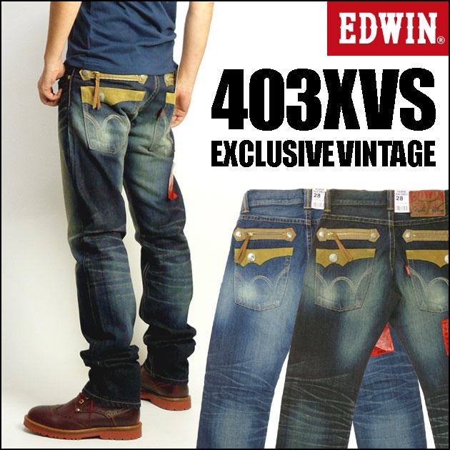 EDWIN(埃德温)403XVS TAPERED ZIP MODEL/tepadojippumoderu-EXCLUSIVE VINTAGE-483XVS