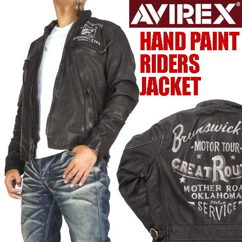 AVIREX (avirex) 手油漆骑士夹克-handpaintridersjacket / 皮革夹克-6121009