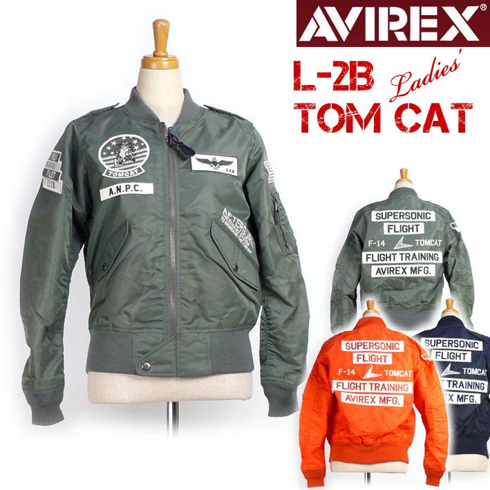 AVIREX アビレックス レディース L-2B TOMCAT フライトジャケット ミリタリージャケット 春物 6282027