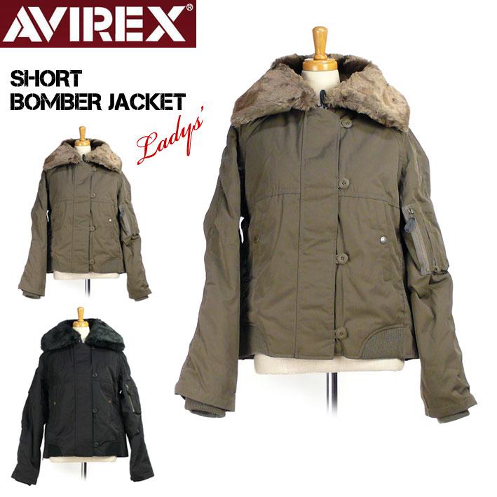セール AVIREX アビレックス ショート ボマー ジャケット レディース SHORT BOMBER JACKET ミリタリージャケット6282038