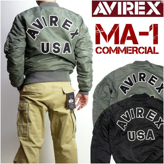 アビレックス AVIREX メンズ MA1 COMMERCIAL LOGO MA-1 ロゴ MIL-J-8279E(USAF) 6162164 【送料無料】