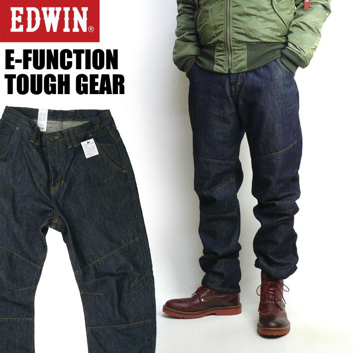 EDWIN エドウィン E-FUNCTION TOUGH GEAR E ファンクション タフギア 3D 立体裁断 メンズ ジーンズ 日本製 EFG003