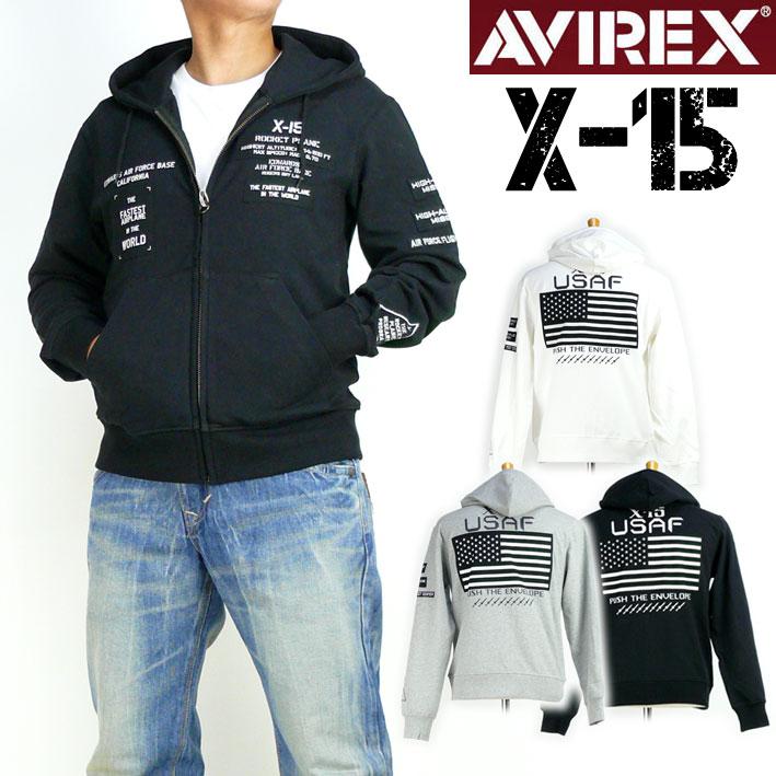 AVIREX アビレックス メンズ パーカー コーデュラミックス ジップ パーカー X-15 ミリタリーパーカー 送料無料 プレゼント ギフト 6183494