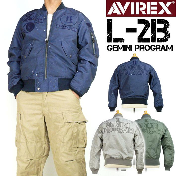 AVIREX アビレックス メンズ ジャケット L-2B GEMINI PROGRAM フライトジャケット ミリタリージャケット 送料無料 6182186