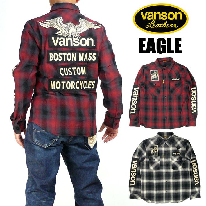 VANSON バンソン メンズ シャツ オンブレチェック 長袖シャツ EAGLE 送料無料 プレゼント ギフト NVSL-808