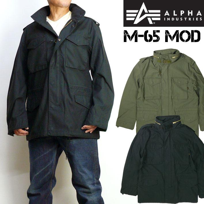 ALPHA アルファ メンズ ジャケット M-65 MOD FIELD JACKET コットン バックサテン ミリタリージャケット 送料無料 TA1337
