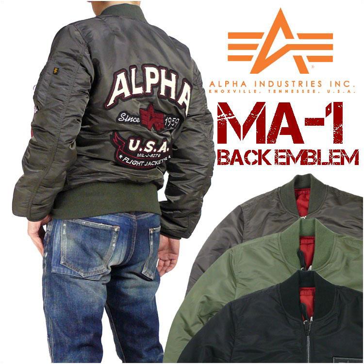ALPHA アルファ MA-1 MA-1 フライトジャケット BACK EMBLEM TIGHT JACKET ミリタリージャケット TA0112