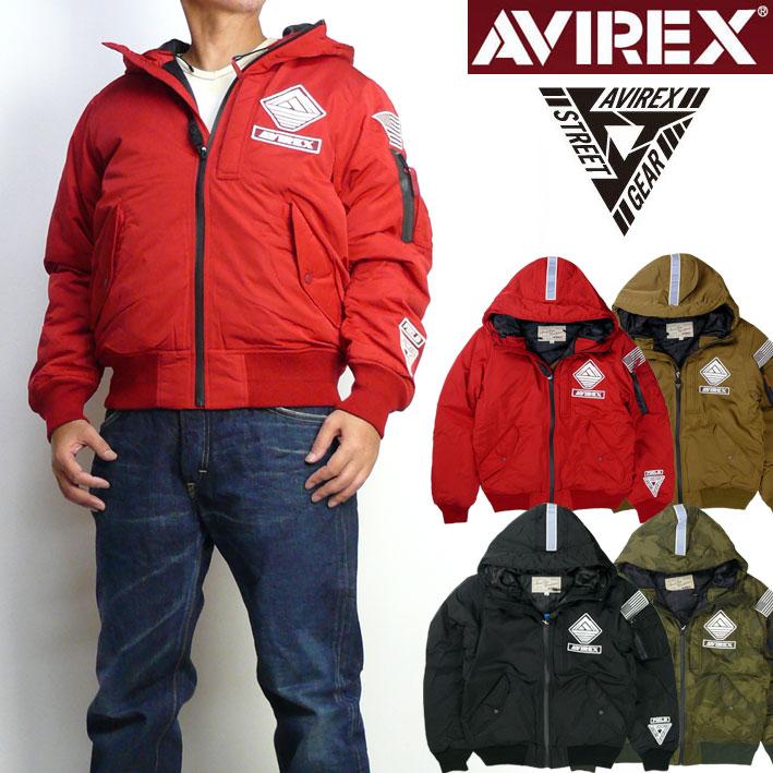 セール AVIREX アビレックス メンズ MA-1 WARM LINED HOODIE MA-1 STREET GEAR FIELD フライトジャケット ミリタリージャケット 6182183