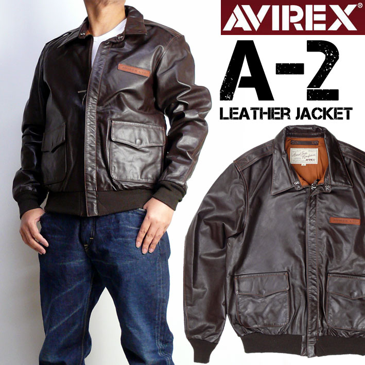 AVIREX アビレックス A-2 レザージャケット メンズ A2 PLAIN フライトジャケット ミリタリージャケット 6181061