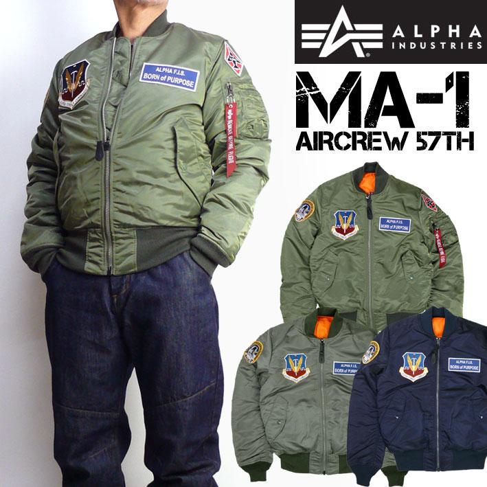 セール ALPHA アルファ メンズ MA-1 フライトジャケット AIRCREW 57Th TIGHT JACKET ミリタリージャケット TA0138