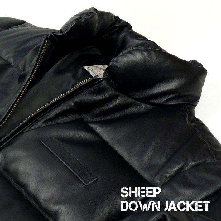 AVIREX アビレックス レザー ダウンジャケット メンズ SHEEP DOWN JACKET シープダウンジャケット 革ジャン ミリタリージャケット 6181057