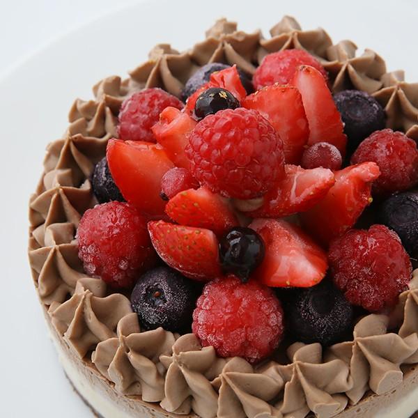 楽天市場お祝い 誕生日チョコrawケーキホールサイズ12cm