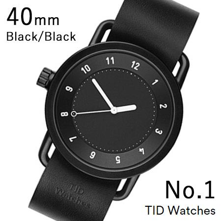 【最大5%クーポン配布中】TID01-40BK-BK TID Watches No.1 Black 40mm BK case/BK dial Wristband Black Leather 腕時計 レディース メンズ ブランド 北欧 時計 北欧デザイン ウォッチ ブランド時計 ブランド腕時計