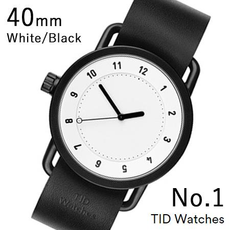 【国内正規品】【プレゼント付き】TID01-40WH-BK TID Watches No.1 White 40mm BK case/WH dial Wristband Black Leather 腕時計 レディース メンズ ブランド 北欧 時計 北欧デザイン ウォッチ ブランド時計 ブランド腕時計
