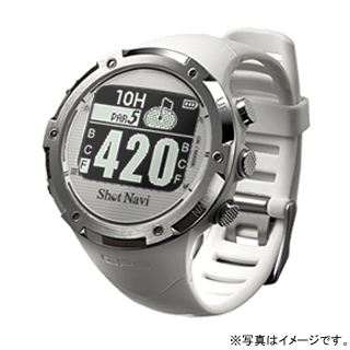 【最大5%クーポン配布中】W1-GL-W テクタイト Shot Navi ホワイト 腕時計型タイプ