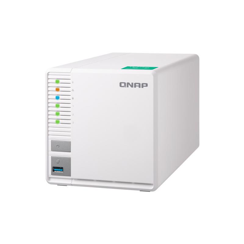 【割引クーポン配布 4/16 1:59迄】TS-328 QNAP 3ベイNAS クアッドコアCPU搭載(RTD1295 quad-core 1.4GHz・2GB DDR4)