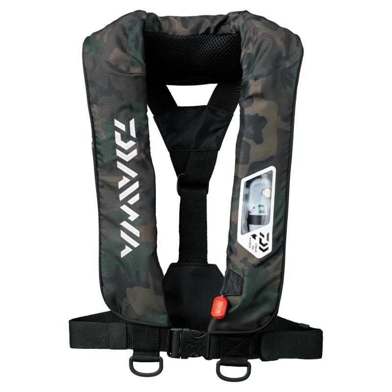 113861 ダイワ DAIWA DF-2007 ウォッシャブルライフジャケット 肩掛けタイプ グリーンカモ 船検対応 フリーサイズ TYPE-A