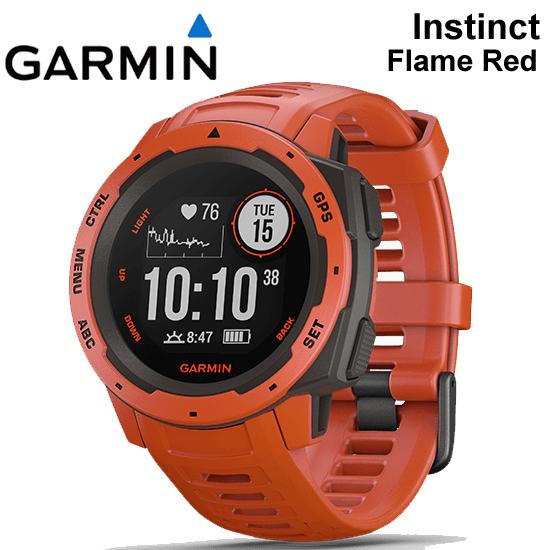 【5年延長保証購入可能】【日本語版】【正規品】010-02064-32 GARMIN ガーミン Instinct Flame Red フレームレッド インスティンクト MIL-STD-810準拠 GPS 腕時計 ランニングウォッチ 耐熱 耐衝撃 耐水 アウトドアウォッチ ◆