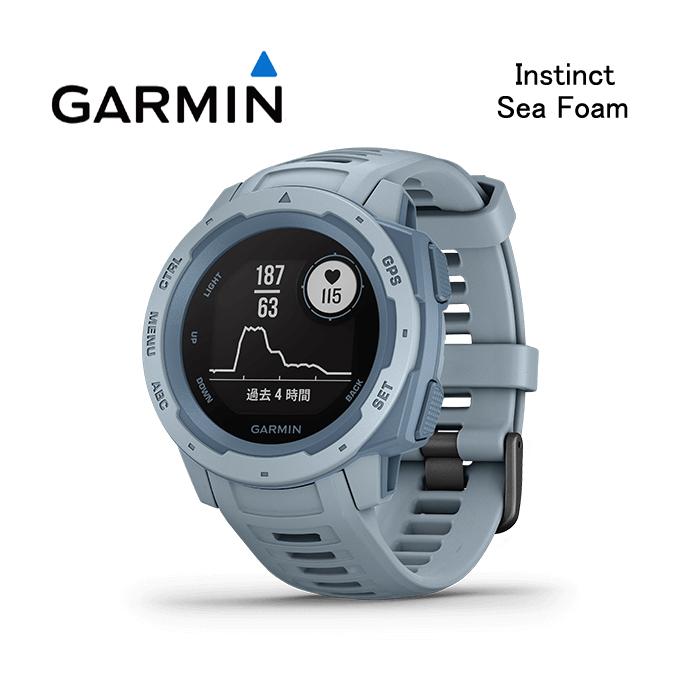 【割引クーポン配布 5/21 9:59迄】【5年延長保証購入可能】【日本語版】【正規品】010-02064-62 GARMIN ガーミン Instinct Sea Foam シーフォーム インスティンクト MIL-STD-810準拠 GPS 腕時計 耐熱 耐衝撃 耐水 アウトドアウォッチ ランニングウォッチ