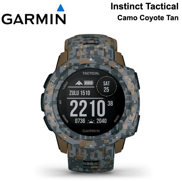【最大5%クーポン配布中】【5年延長保証購入可能】 GARMIN ガーミン インスティンクト Instinct Tactical CamoCoyote Tan タクティカル カモコヨーテタン MIL-STD-810G準拠 アウトドア スマートウォッチ 010-02064-D2 日本語モデル 正規品 【あす楽/土日祝対象外】