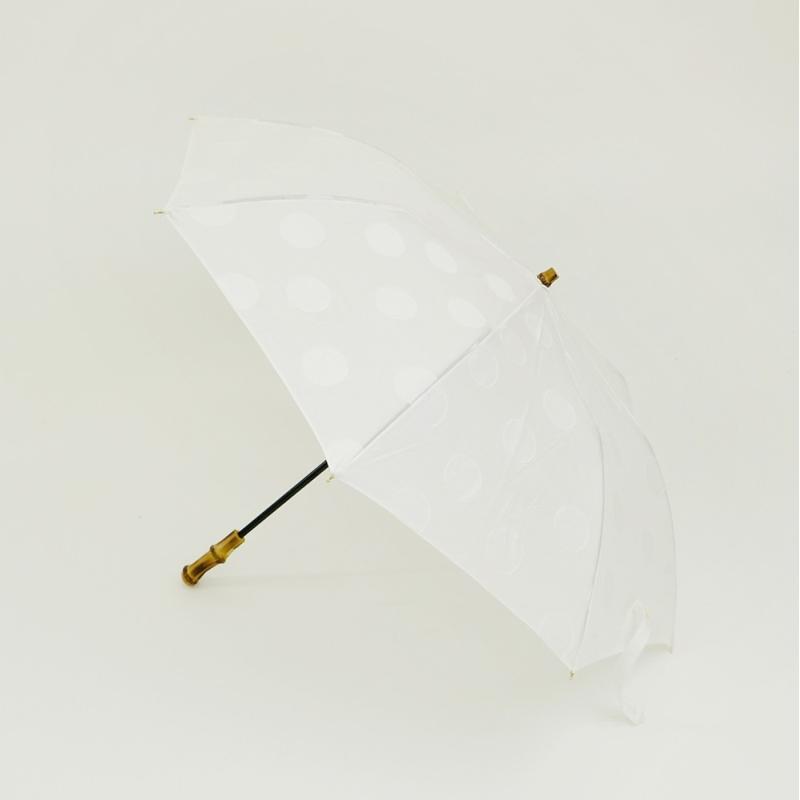 【最大5%クーポン配布中】161270WH RESTFOLK レストフォーク 晴雨兼用 折り畳み傘 ジャガード ドットライン ホワイト 白 UV加工 紫外線遮光率90% 【あす楽/土日祝対象外】