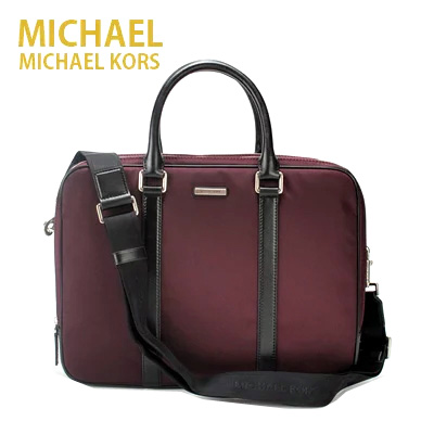 96f15b345845 マイケルコース MICHAEL KORS Windsor Large Nylon Briefcase ハンドバッグ ショルダーバッグ  メンズ(BORDEAUX )33s5swda7cbo 通勤 ビジネス おしゃれ きれいめ ...