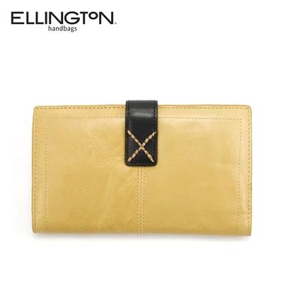 エリントン Ellington 二つ折り 財布 長財布 レザー アウトレット ユニセックス 3635ye イエロー あす楽 送料無料
