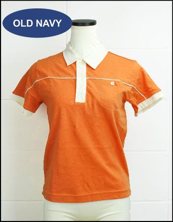 あす楽 在庫限り 平日13時までのご注文 正規逆輸入品 ご入金で即日発送OK オールドネイビー OLD キッズボーイズ NAVY オレンジ ポロシャツ半袖