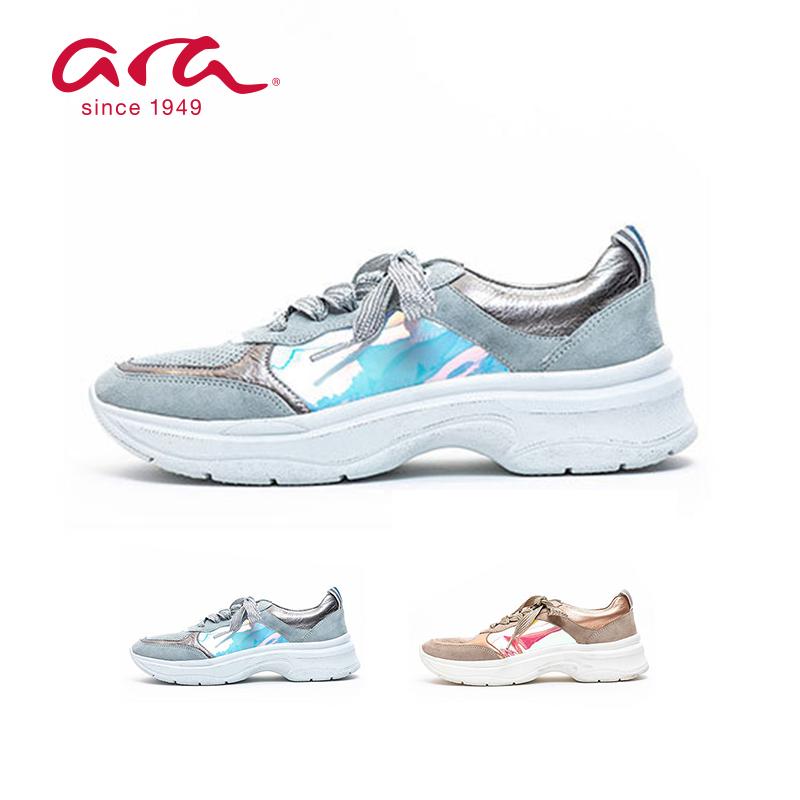 【送料無料】ara [アラ] 12-18846 ROM-ST-HIGH-SOFT レディース レザースニーカー スニーカー シューズ 靴 ホワイト 白おしゃれ かっこいい