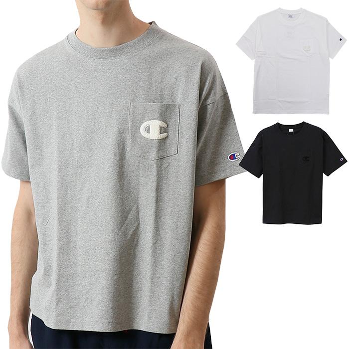 <title>■ポイント10倍■ チャンピオン CHAMPION ショートスリーブ ポケット Tシャツ C3 P357 国内正規品 店舗 キャッシュレス還元対応</title>
