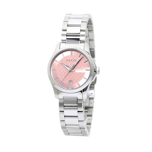 INT-760グッチ YA126524 G-タイムレス レディース ピンク 時計/ウォッチ 【キャッシュレス還元対応】