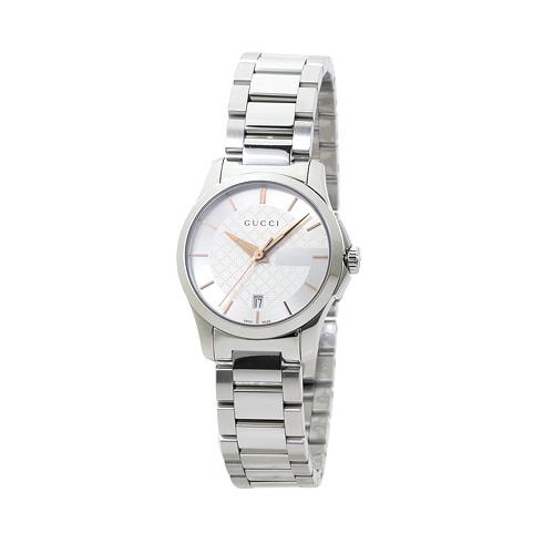 グッチ GUCCI YA126523 G-タイムレス レディース シルバー 時計/ウォッチ