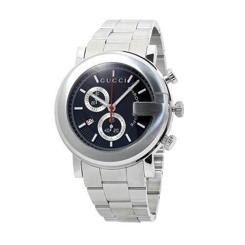 グッチ YA101309 クロノグラフ メンズ ブラック 時計/ウォッチ 【キャッシュレス還元対応】