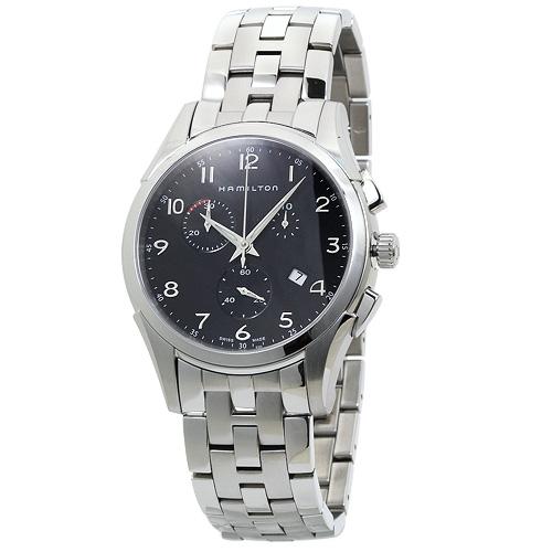 INT-223ハミルトン ジャズマスター シンライン クロノ メンズ H38612133:ブラック 時計/ウォッチ