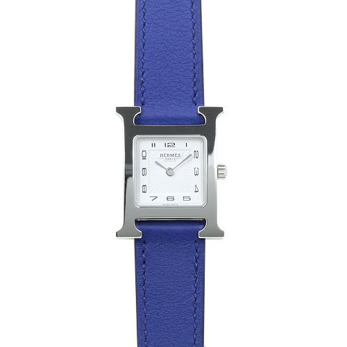 エルメス HERMES Hウォッチ PM レディース HH1.210.131.WW7T (038915WW00) ホワイト/エレクトリックブルーレザー 時計/ウォッチ