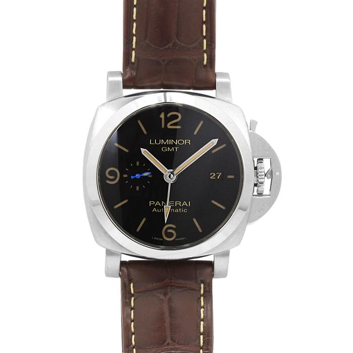 パネライ PANERAI ルミノール1950 GMT 44MM PAM01320 ブラック ブラウンベルト メンズ 時計 ウォッチ 当日発送対象外