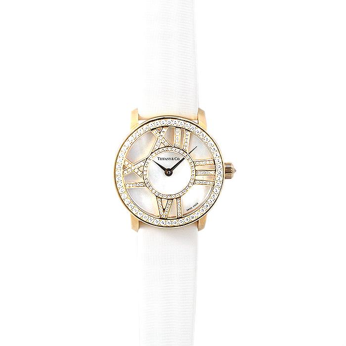 ティファニー TIFFANY アトラス レディース Z1900.10.30E91A40B ホワイトシェル/ホワイトサテン 時計/ウォッチ