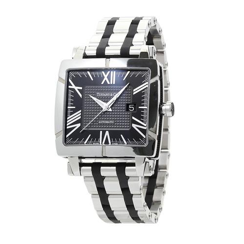 ティファニー TIFFANY アトラス スクエア メンズ Z1100.70.12A10A00A:ブラック&グレー 時計/ウォッチ