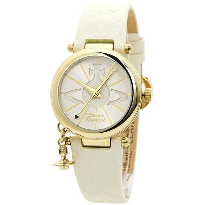 ヴィヴィアンウエストウッド Vivienne Westwood VV006WHWH レディース ホワイト/ホワイトレザー 時計/ウォッチ