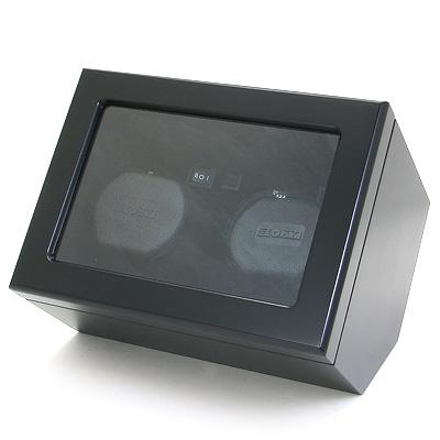 BOXY ウォッチワインダー (2本巻き) DC02DS-BK 時計/ウォッチ