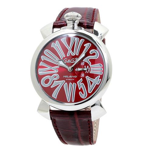 ガガミラノ GaGa MILANO スリム Slim 5084.4 レッド レッドベルト メンズ 時計 ウォッチ