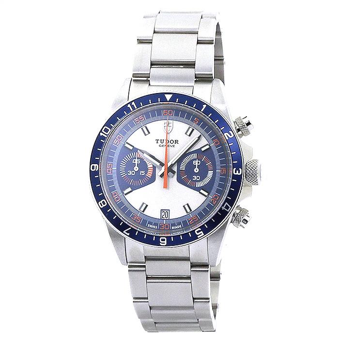 チューダー TUDOR ヘリテージ クロノグラフ Heritage Chronograph 70330B-0001 ブルー シルバーベルト メンズ 時計 ウォッチ チュードル