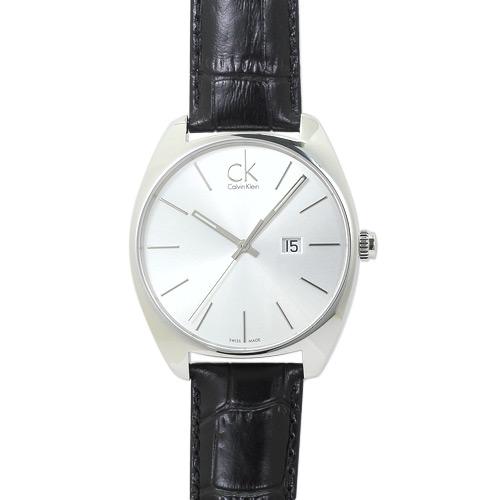 CK カルバンクライン CALVIN KLEIN K2F21120 メンズ シルバー/ブラックレザー 時計/ウォッチ