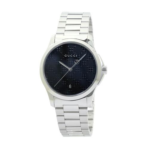 グッチ GUCCI YA126460 G-タイムレス メンズ ブラック・ディアマンテ 時計/ウォッチ