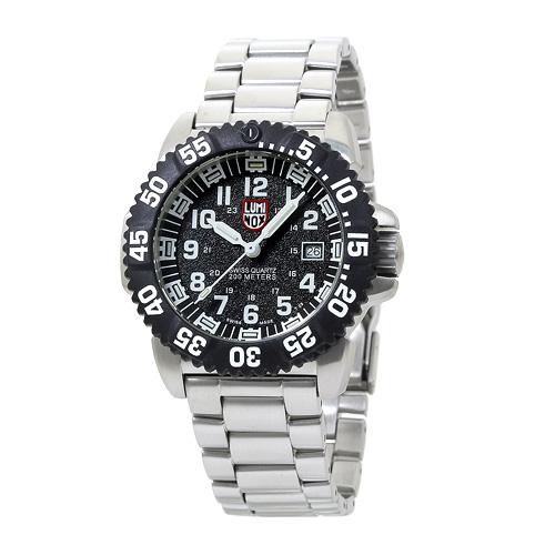 INT-124ルミノックス 3152 ネイビーシールズ メンズ ブラック×ホワイト 時計/ウォッチ
