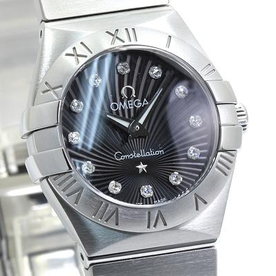 INT-L-293オメガ コンステレーション ブラッシュ レディース 123.10.24.60.51.001:ブラック/12Pダイヤ  時計/ウォッチ