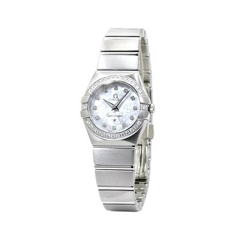 オメガ OMEGA コンステレーション ブラッシュ レディース ダイヤ取巻き 123.15.24.60.55.005 ホワイトシェル/12Pダイヤ 時計/ウォッチ