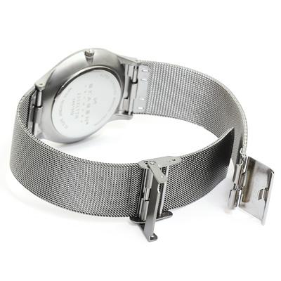 スカーゲン SKAGEN ウルトラスリム メッシュ チタン メンズ 時計 ウォッチ 233XLTTN メタリックブルー文字盤H9DI2E