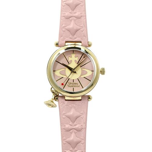 ヴィヴィアンウエストウッド Vivienne Westwood VV006PKPK レディース ピンク×イエロー/ピンクレザー 時計/ウォッチ 【キャッシュレス還元対応】