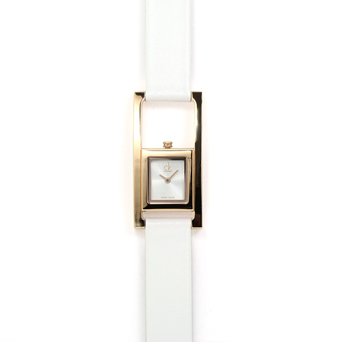カルバンクラインCK アンエクスペクティッド レディース K4H436.L6 PGP/ホワイト/ホワイトレザー 時計/ウォッチ
